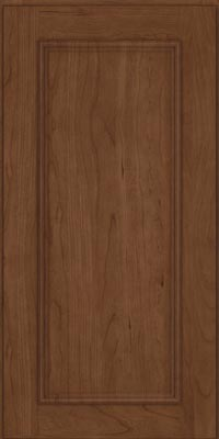 Square Recessed Panel - Solid (AB3C1) Cherry in Hazel - Wall