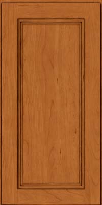 Square Recessed Panel - Solid (AB3C) Cherry in Honey Spice - Wall