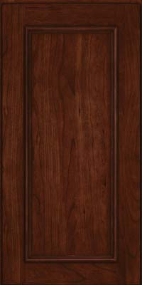 Square Recessed Panel - Solid (AB3C) Cherry in Kaffe - Wall