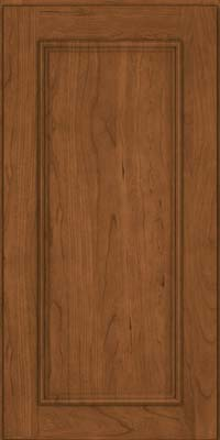 Square Recessed Panel - Solid (AB3C) Cherry in Rye - Wall