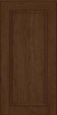 Square Recessed Panel - Solid (AB3C) Cherry in Saddle Suede - Wall
