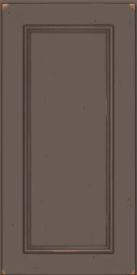 Square Recessed Panel - Solid (AB3C) Cherry in Vintage Greyloft w/ Sable Patina - Wall