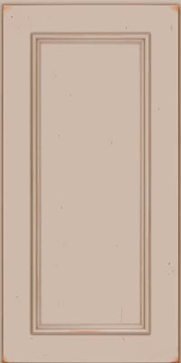 Square Recessed Panel - Solid (AB3C1) Cherry in Vintage Chai - Wall