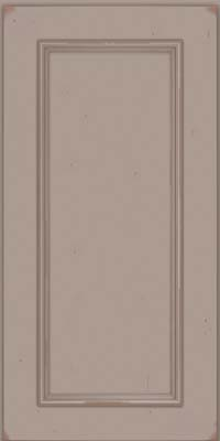 Square Recessed Panel - Solid (AB3C) Cherry in Vintage Pebble Grey w/ Cocoa Patina - Wall