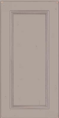 Square Recessed Panel - Solid (AB3C) Cherry in Vintage Pebble Grey w/ Coconut Patina - Wall