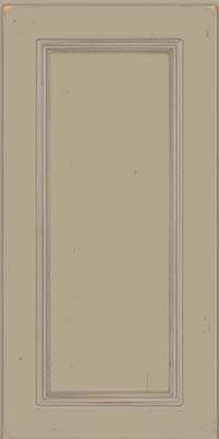 Square Recessed Panel - Solid (AB3C) Cherry in Vintage Willow w/ Cinder Patina - Wall