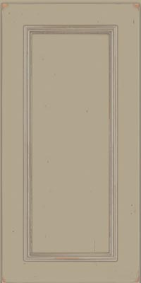 Square Recessed Panel - Solid (AB3C1) Cherry in Vintage Willow w/Coconut Patina - Wall
