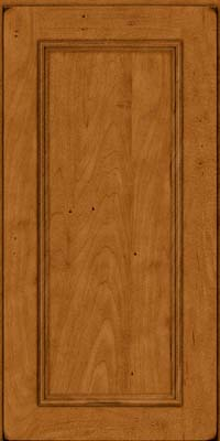 Square Recessed Panel - Solid (AB3M) Maple in Burnished Golden Lager - Wall