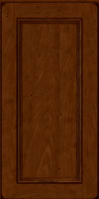 Square Recessed Panel - Solid (AB3M) Maple in Burnished Chestnut - Wall