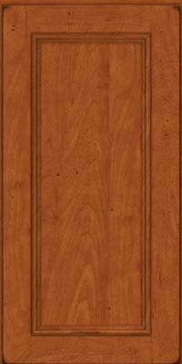 Square Recessed Panel - Solid (AB3M) Maple in Burnished Cinnamon - Wall