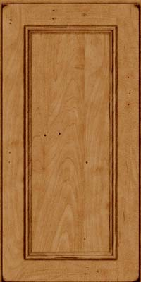 Square Recessed Panel - Solid (AB3M) Maple in Burnished Ginger - Wall