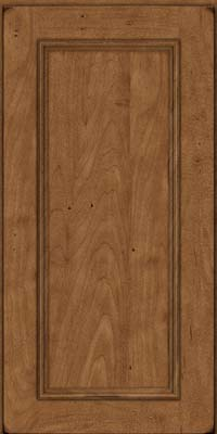 Square Recessed Panel - Solid (AB3M) Maple in Burnished Rye - Wall