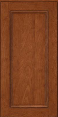 Square Recessed Panel - Solid (AB3M) Maple in Chestnut - Wall
