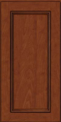 Square Recessed Panel - Solid (AB3M) Maple in Chestnut w/Onyx Glaze - Wall