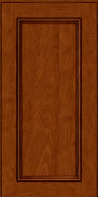 Square Recessed Panel - Solid (AB3M) Maple in Cinnamon w/Onyx Glaze - Wall