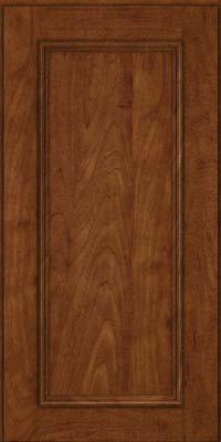 Square Recessed Panel - Solid (AB3M) Maple in Cognac - Wall