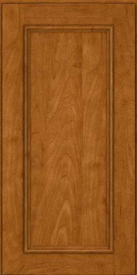 Square Recessed Panel - Solid (AB3M) Maple in Golden Lager - Wall