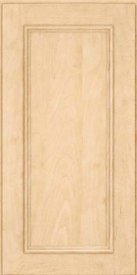 Square Recessed Panel - Solid (AB3M) Maple in Natural - Wall