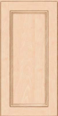 Square Recessed Panel - Solid (AB3M) Maple in Parchment - Wall