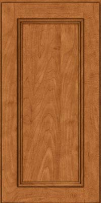 Square Recessed Panel - Solid (AB3M) Maple in Praline w/Mocha Highlight - Wall