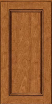 Square Recessed Panel - Solid (AB3M) Maple in Praline w/Onyx Glaze - Wall