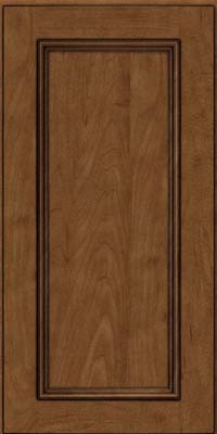 Square Recessed Panel - Solid (AB3M) Maple in Rye w/Onyx Glaze - Wall