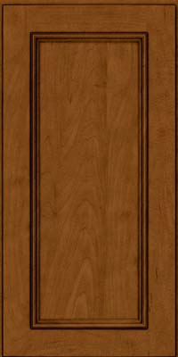 Square Recessed Panel - Solid (AB3M) Maple in Rye w/Sable Glaze - Wall