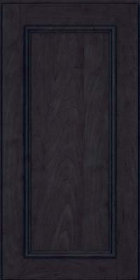 Square Recessed Panel - Solid (AB3M) Maple in Slate - Wall
