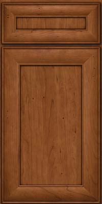 Square Recessed Panel - Veneer (AB5C) Cherry in Antique Chocolate w/Mocha Glaze - Base