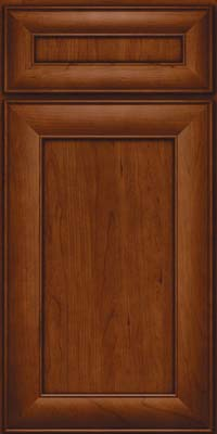 Square Recessed Panel - Veneer (AB5C) Cherry in Autumn Blush - Base