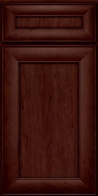 Square Recessed Panel - Veneer (AB5C) Cherry in Cabernet - Base