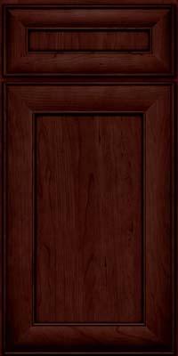 Square Recessed Panel - Veneer (AB5C) Cherry in Cabernet w/Onyx Glaze - Base