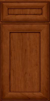 Square Recessed Panel - Veneer (AB5C) Cherry in Cinnamon w/Onyx Glaze - Base