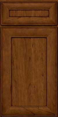 Square Recessed Panel - Veneer (AB5C) Cherry in Ginger w/Sable Glaze - Base