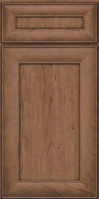 Square Recessed Panel - Veneer (AB5C) Cherry in Husk Suede - Base