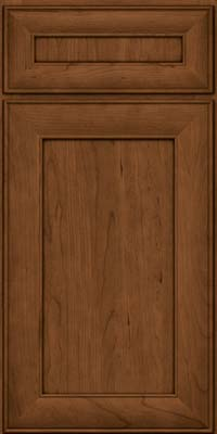 Square Recessed Panel - Veneer (AB5C) Cherry in Rye w/Sable Glaze - Base