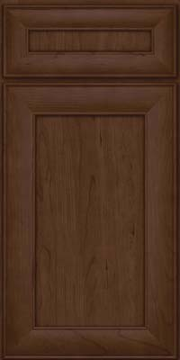 Square Recessed Panel - Veneer (AB5C) Cherry in Saddle Suede - Base