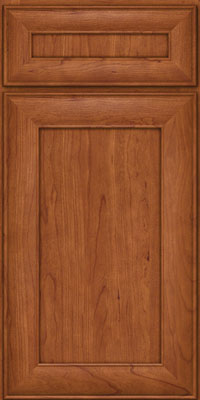 Square Recessed Panel - Veneer (AB5C) Cherry in Sunset - Base
