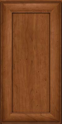 Square Recessed Panel - Veneer (AB5C) Cherry in Antique Chocolate w/Mocha Glaze - Wall