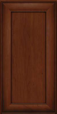 Square Recessed Panel - Veneer (AB5C) Cherry in Autumn Blush w/Onyx Glaze - Wall
