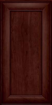 Square Recessed Panel - Veneer (AB5C) Cherry in Cabernet - Wall