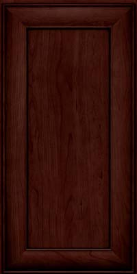 Square Recessed Panel - Veneer (AB5C) Cherry in Cabernet w/Onyx Glaze - Wall