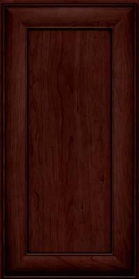 Square Recessed Panel - Veneer (AB5C) Cherry in Cabernet w/Onyx Glaze - Wall