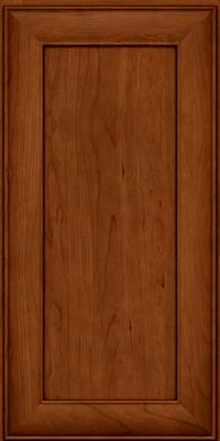 Square Recessed Panel - Veneer (AB5C) Cherry in Cinnamon w/Onyx Glaze - Wall