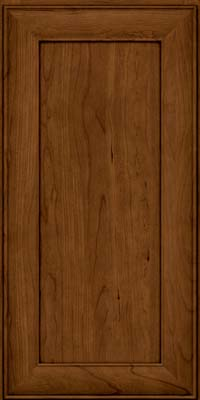 Square Recessed Panel - Veneer (AB5C) Cherry in Ginger w/Sable Glaze - Wall