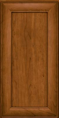 Square Recessed Panel - Veneer (AB5C) Cherry in Golden Lager - Wall