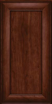 Square Recessed Panel - Veneer (AB5C) Cherry in Kaffe - Wall