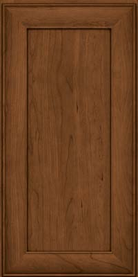 Square Recessed Panel - Veneer (AB5C) Cherry in Rye w/Sable Glaze - Wall