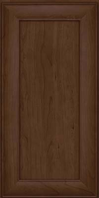 Square Recessed Panel - Veneer (AB5C) Cherry in Saddle Suede - Wall