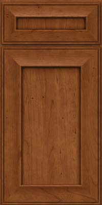 Square Recessed Panel - Solid (AB6C) Cherry in Antique Chocolate w/Mocha Glaze - Base